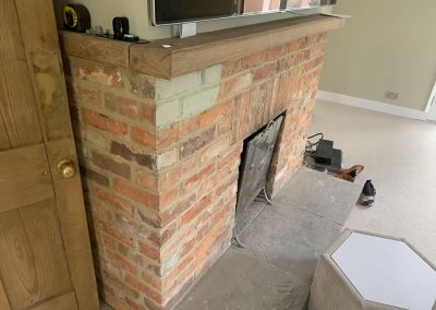 Brick fireplace in Thame