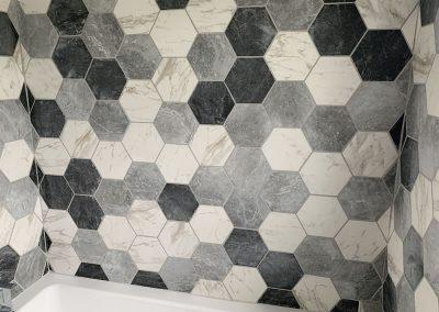 Tiled bathroom in Thame